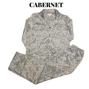 NWOT Cabernet Baroque Print Pajama Set, Size S